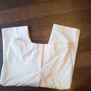 Talbots white capris size 12P